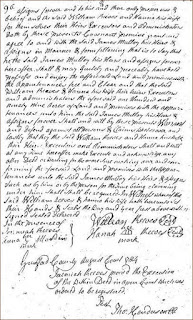 1784 Deed from William & Hannah Reeves to Mulloy
