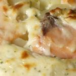 Dauphinois au saumon et fromage ail et fines herbes