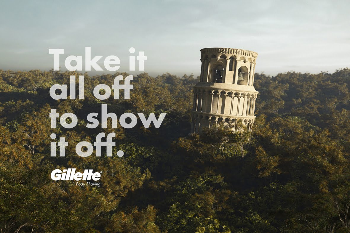 PISA TOWER - GILLETTE - MONUMENTS - BBDO MÉXICO