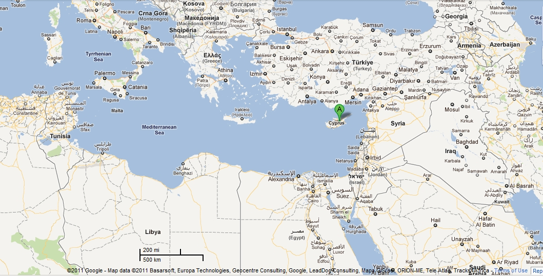 cyprus located on a world map image search results