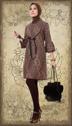 contoh baju batik muslim