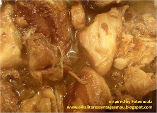 Κοτόπουλο λεμονάτο της κατσαρόλας με αρμπαρόριζα