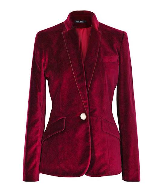 burgundy-velvet-blazer