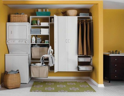 Laundry-room-cabinets-with-drying-rack