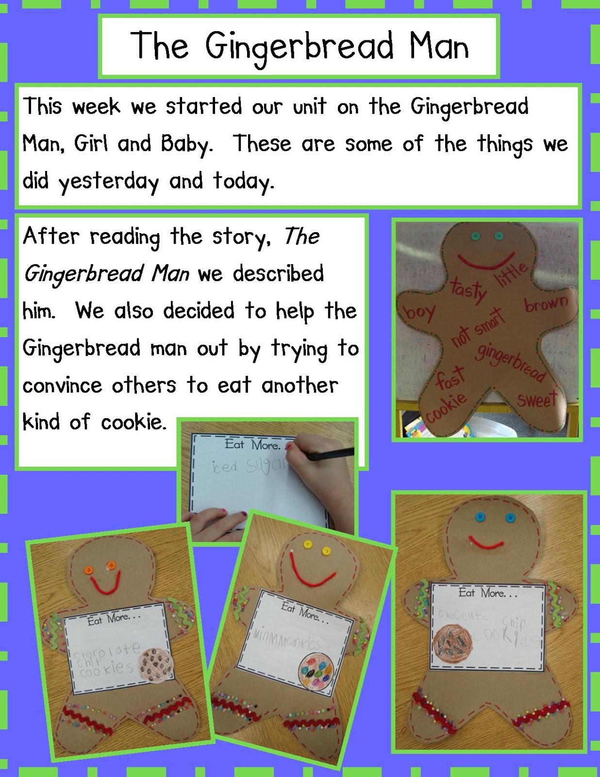 the gingerbread man An old lady and an old man who baked a gingerbread man once upon a time,  there was an old couple who lived on a little farm one day, the old woman de.