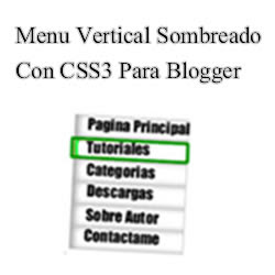 Menu Vertical Sombreado Con Css3 Para Blogger