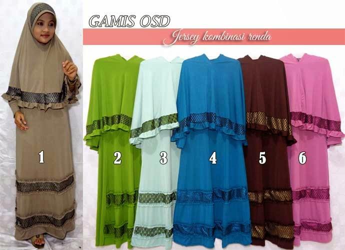 Gamis syar'i murah set jilbab dan bergo cantik nan elegan
