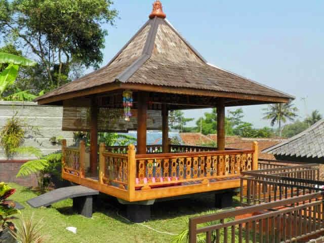 TUKANG SAUNG JEPARA | jasa pembuatan saung gazebo, kolam dan taman minimalis