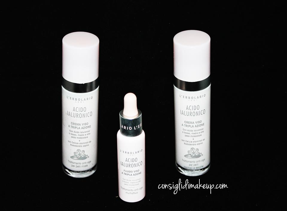 crema viso fluido viso l'erbolario acido ialuronico