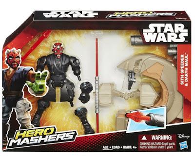 TOYS : JUGUETES - STAR WARS : Hero Mashers  Sith Speeder & Darth Maul  Pack Figura - Muñeco + vehículo moto  Producto Oficial Película Disney 2015 | Hasbro B3832 | A partir de 4 años Comprar en Amazon España & buy Amazon USA