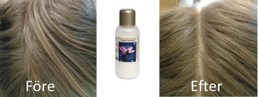 torrschampo med färg