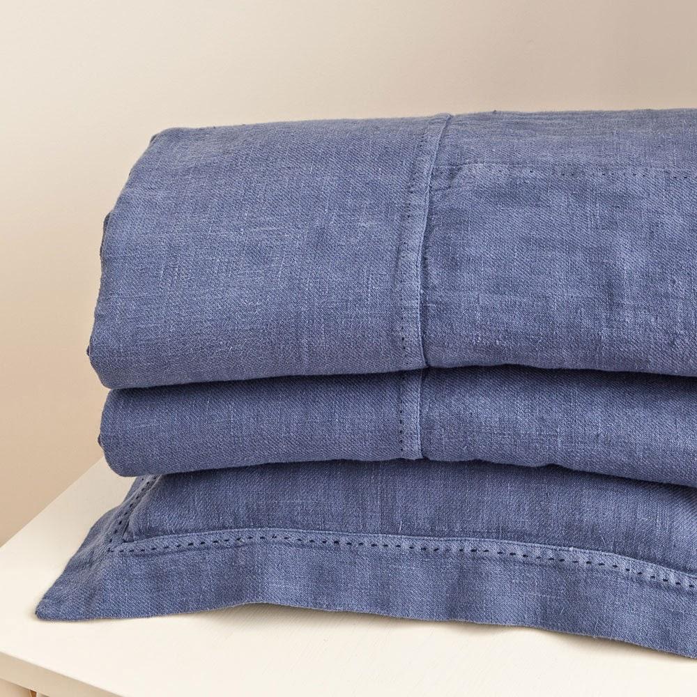 Zara Home Linen Patchwork Bedspread Folded