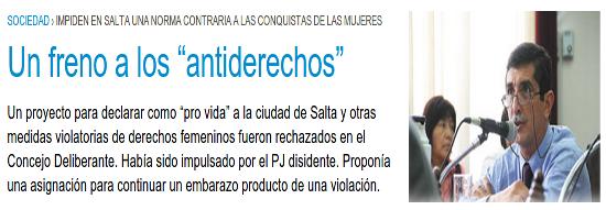 """Un freno a los """"antiderechos"""""""