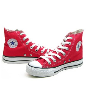 converse red high tops dirty