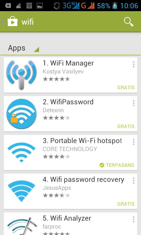 Menjadikan HP android sebagai modem wifi