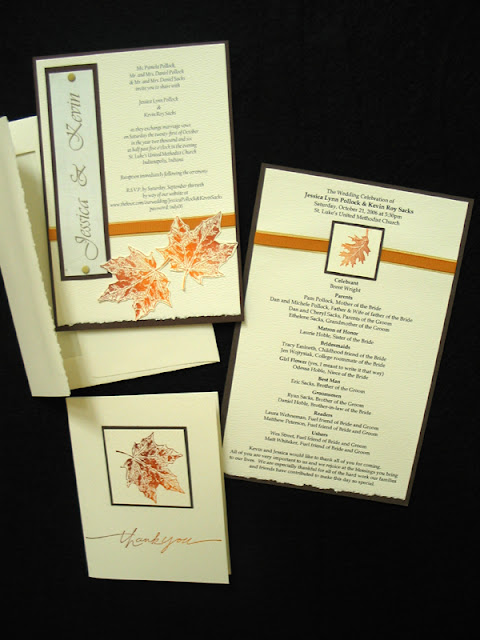 Autumn Wedding Programs8