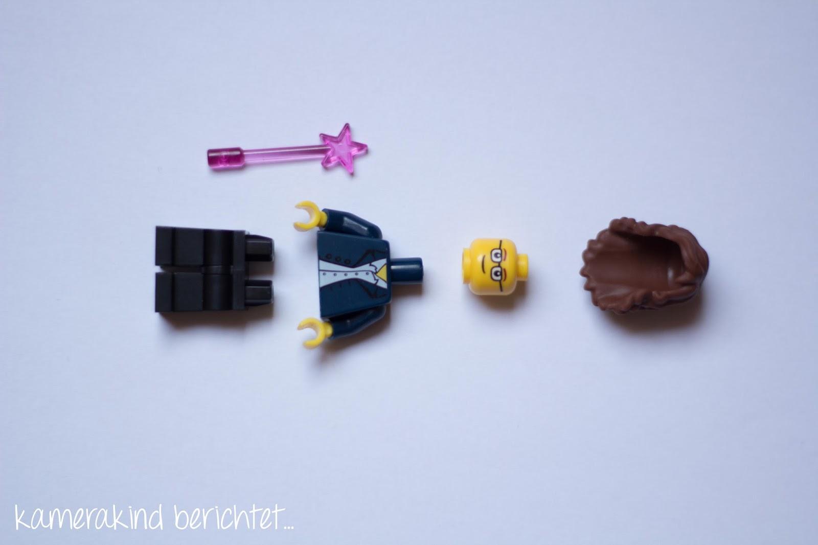 Eine Legofigur besteht aus füfn Teilen.