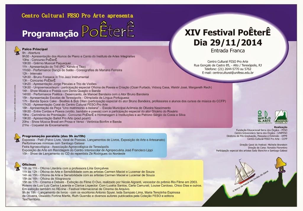 Teresópolis e a XIV edição da Festival PoÊterÊ