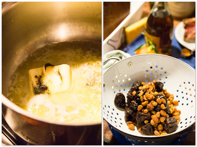 vaniljarisotto, brandyluumuja