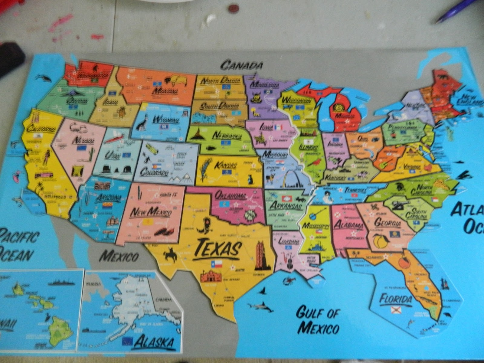 Loopy Loop Creations Places Ive Been Map - Map of states ive been to