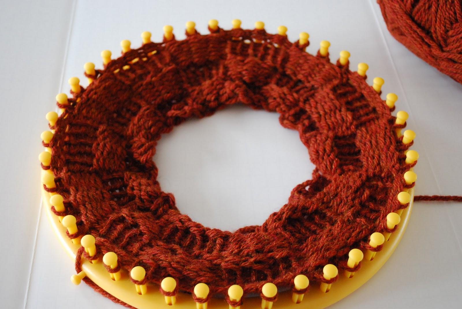 Crafty Garden Mom Loom Knitting Wip Cowl
