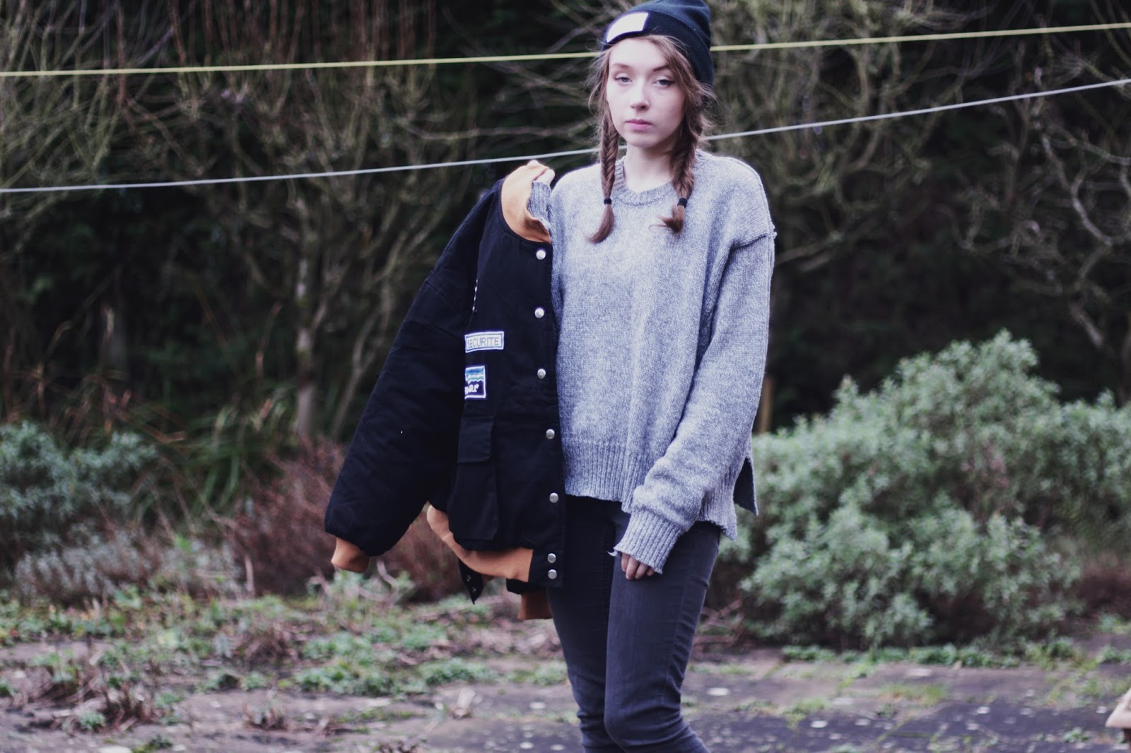 grey winter outfit inspiration uk fashion blogger