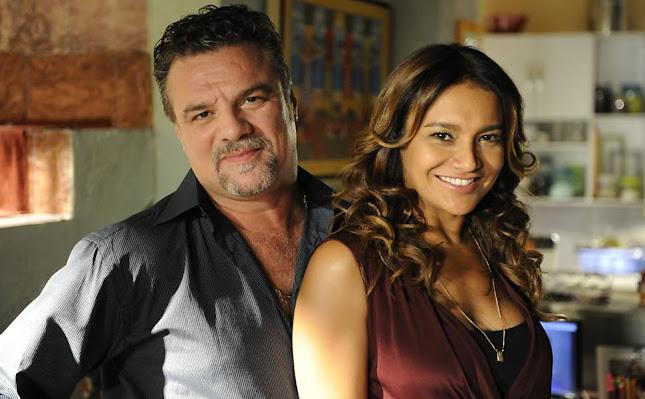 Russo (Adriano Garib) e Lucimar (Dira Paes) (Foto: Estevam Avellar/Divulgação/TV Globo)