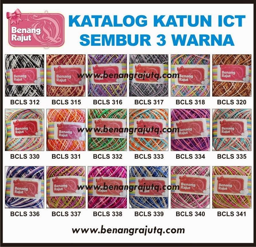 BENANG KATUN SEMBUR - 3 WARNA