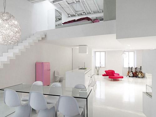 Hogares frescos loft minimalista y moderno con dise o de - Diseno de lofts interiores ...