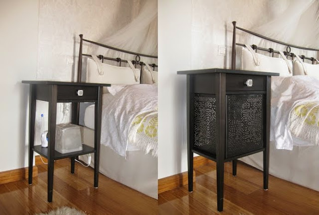 Ikea Rationell Unterschrank ~   VARIERA shelf insert, HEMNES nightstand, L brackets, spray paint