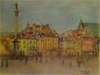 obraz Plac Zamkowy autorstwa Marka Strójwąsa
