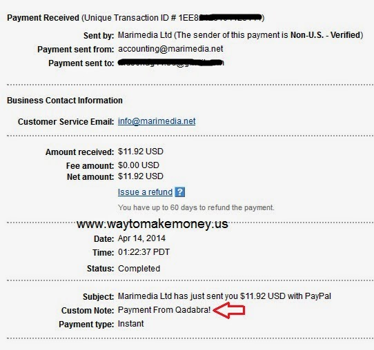 Qadabra Payment Proof 2014