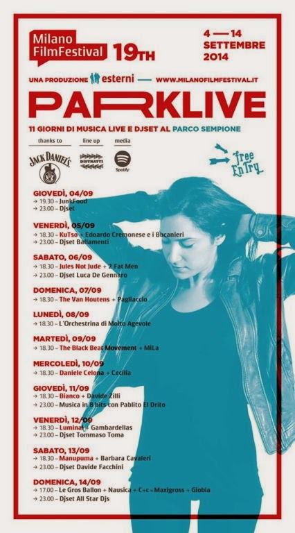Parklive, 11 giorni di concerti live gratuiti nel cuore di Parco Sempione a Milano