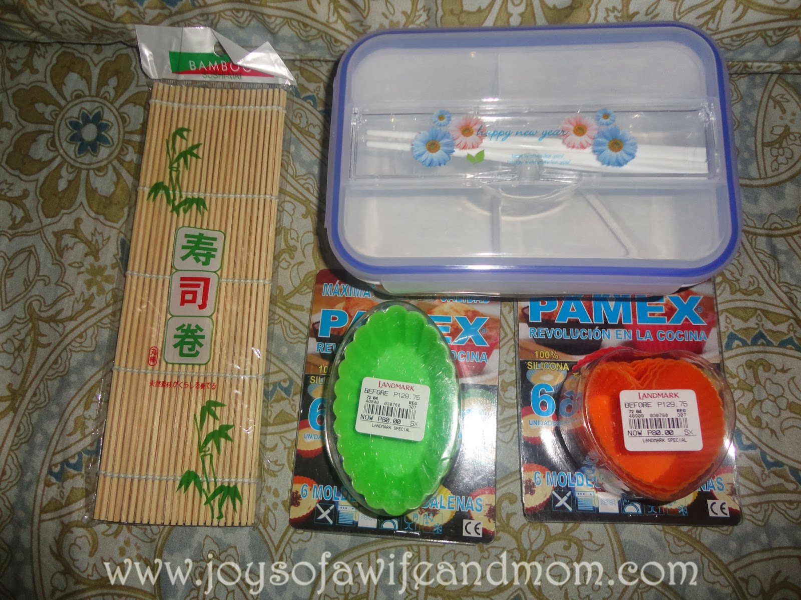 Joys of a wife and mom some shopping loots from trinoma a super you might have noticed that i have used those silicone cups and lunch box in my previous bento posts well thats because this is a super late entry stopboris Gallery
