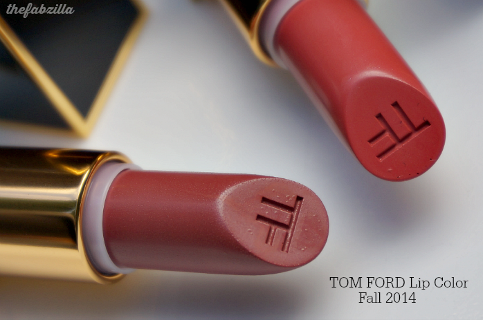 Tom Ford Fall 2014 Lip Color, 30 Negligee and 31 Twist of Fate, Review, Swatch, FOTD