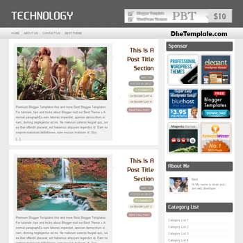 Technology blogger template. clean design blogger template. free blogspot template