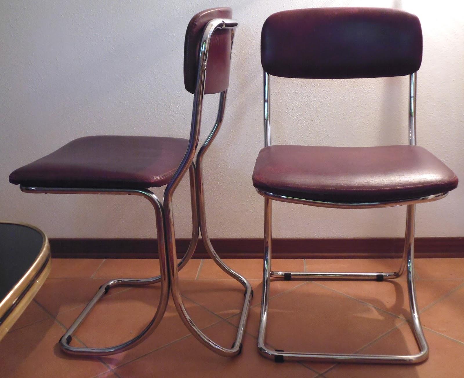 Sedie Vintage Pelle : Rimodern straordinarie sedie in pelle e cromo vintage design