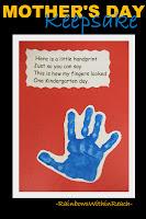 photo of: Kindergarten Handprint poem, Poem for handprint art,