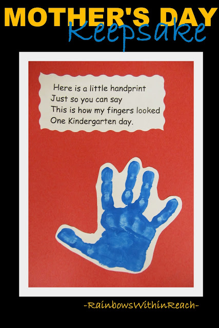 photo of: Kindergarten Handprint poem, Poem for handprint art,