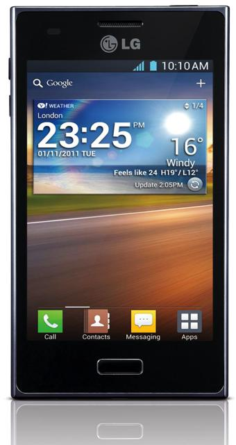 lg optimus l5 display