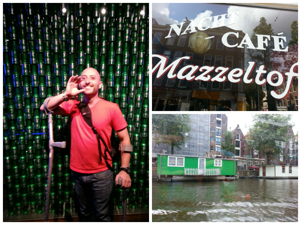 Visiting Amsterdam's attractions including The Heineken Experience, brown cafes and canals