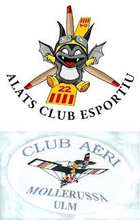 Logos dels clubs Alats i Mollerussa.