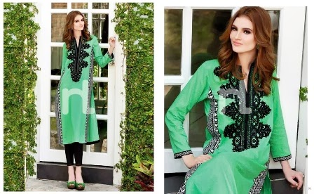 Green Nishat Linen Lawn Suits