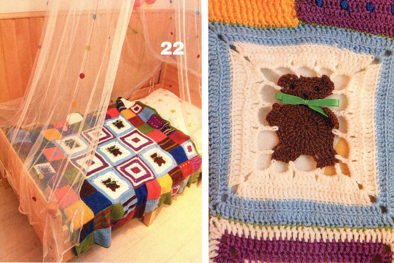 Вязание детского пледа с мишками - Handmade-Paradise