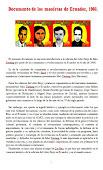 DOCUMENTO DE LOS MAOÍSTAS DE ECUADOR, 1968.