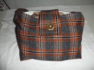 brown, plaid, purse, bag