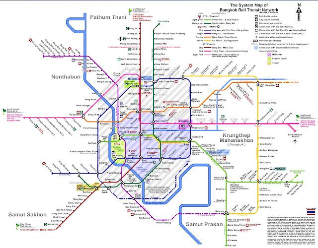 Bangkok-Ayutthaya, Thaïlande, aéroport, road trip, arrivée, voyage, métro, plan métro de Bangkok, train, gare