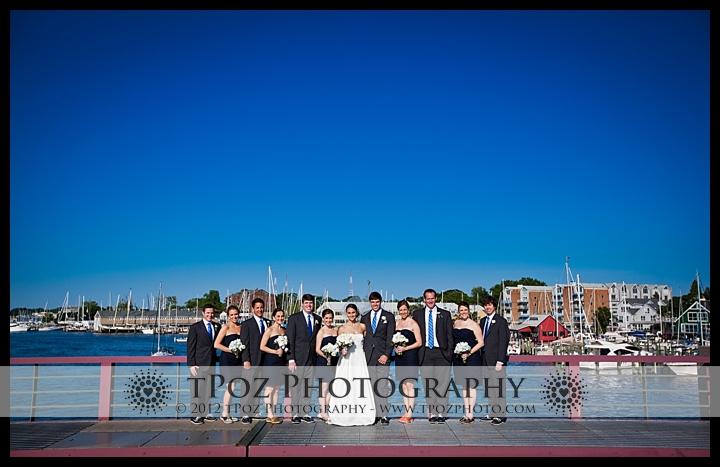 Bridal Party Portrait Eastport Bridge
