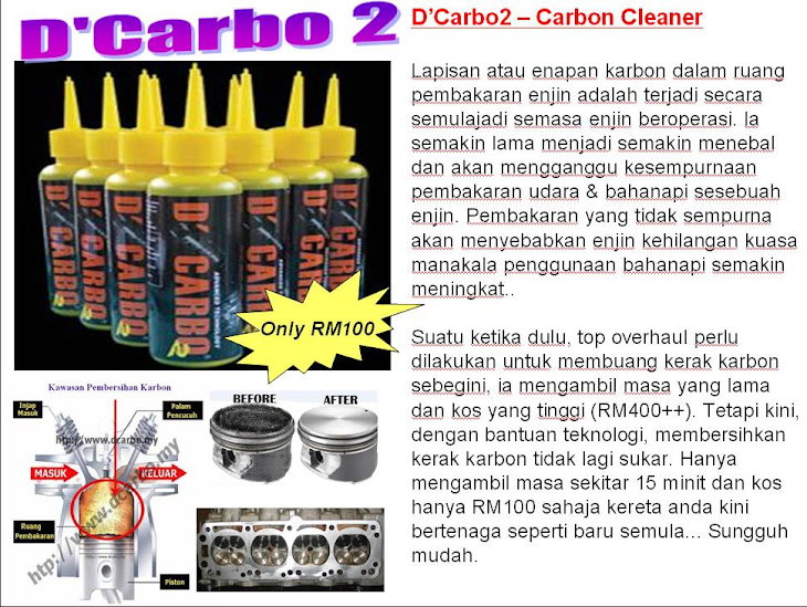 D&#39;Carbo 2 Carbon Cleaner = Rm100