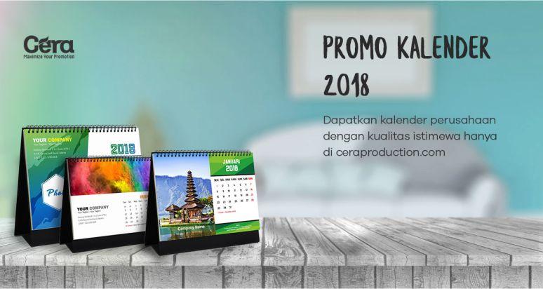 Harga Kalender Meja 2018